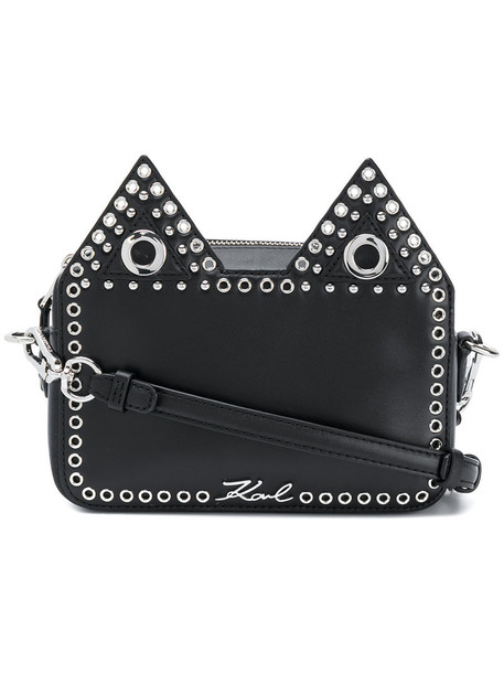 karl lagerfeld women bag leather black