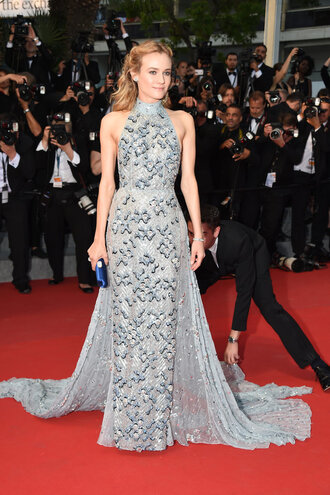 dress gown prom dress diane kruger cannes