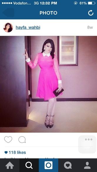 dress hayfa wahbe pink peter pan collar dress peter pan collar pink dress
