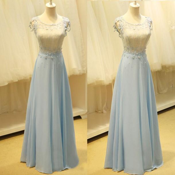 Vintage lace long prom dresses