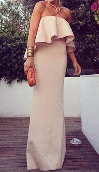 dress ruffle dress evening dress formal dress special occasion dress