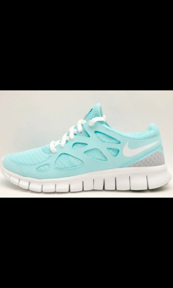 shoes blue white nike running run running shoes athlete gym