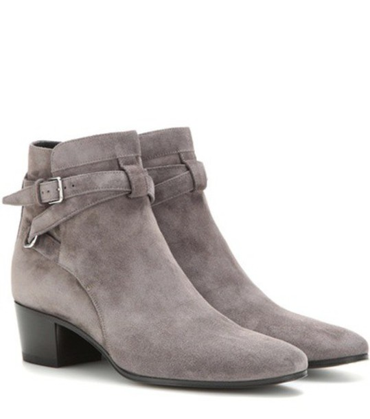 suede ankle boots boots ankle boots suede grey shoes