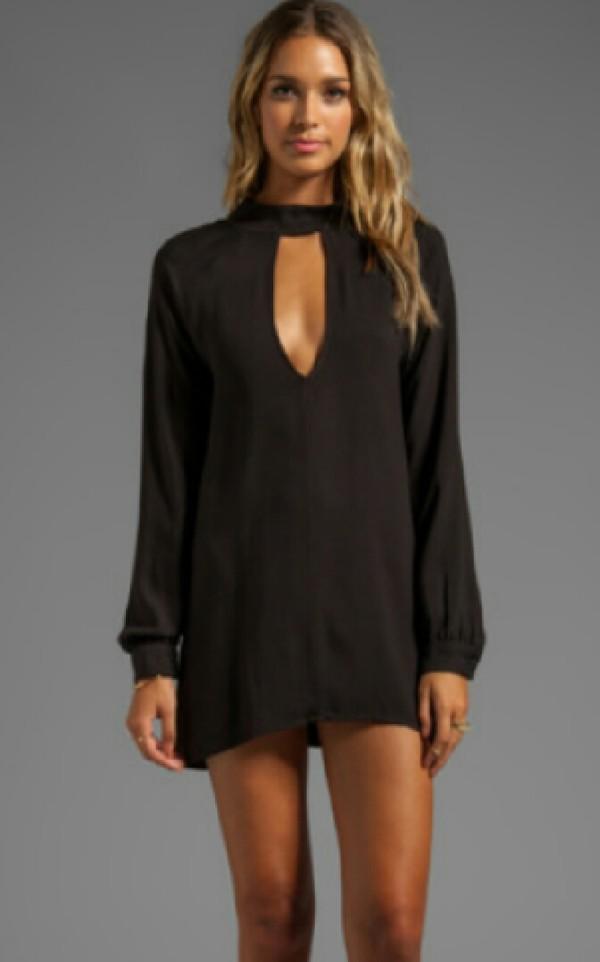 dress long sleeves black