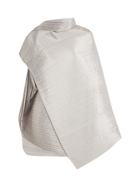 pleated scarf silver