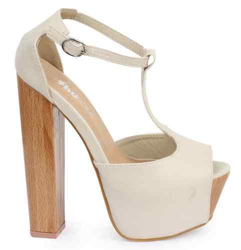 NEW WOMENS SPIKE STUDDED LADIES PEEPTOE T-BAR BLOCK HIGH HEEL SHOES SIZE 3-8 | Amazing Shoes UK