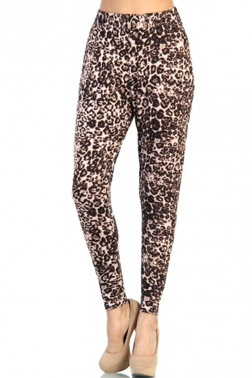 LoveMelrose.com From Harry & Molly | Leopard Print Slim Pants