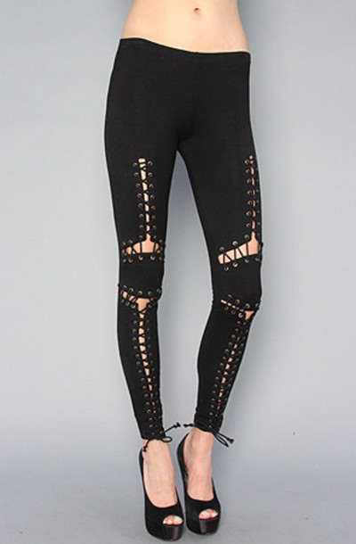 leggings corset lace up goth rock