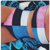 swimwear,bikini,pink,white,blue