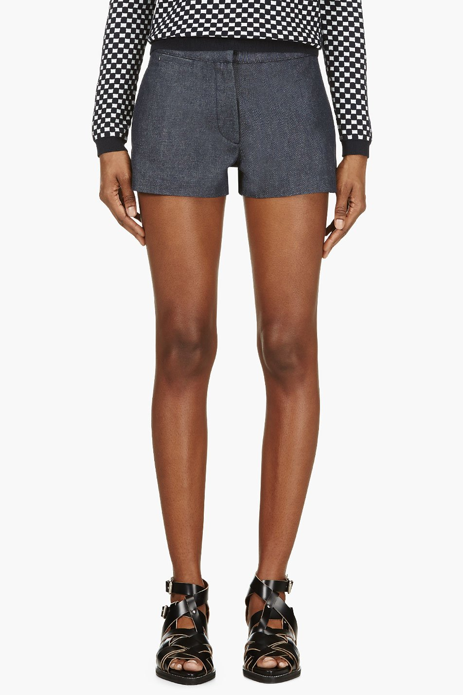 acne studios indigo sailor denim shorts