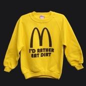 sweater,sweatshirt,shirt,yellow,mcdonalds