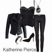 top,the vampire diaries,elena gilbert,jacket,jewels,shoes,hair accessory,hat