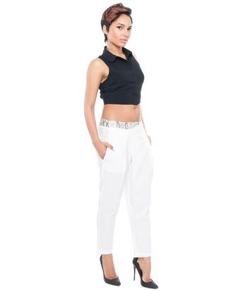 pants white white pants snake print