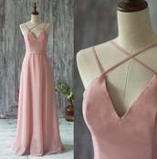 dress,prom,prom dress,gown,maxi dress,pink