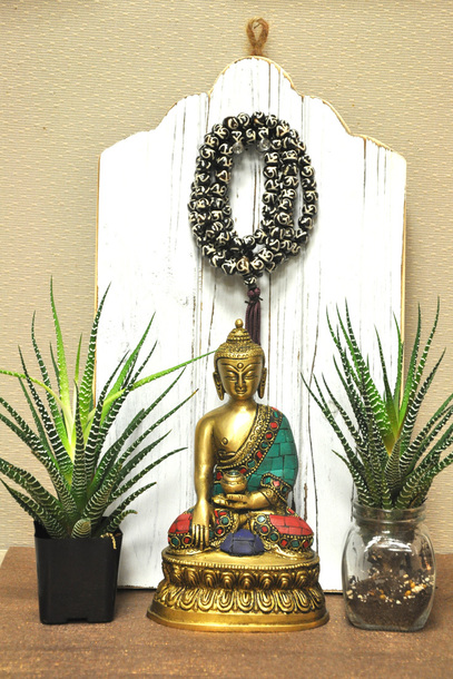 Home Accessory Home Decor Home Decor Statue Plants Prayer Necklace Buddha Sivalya Buddha Statue