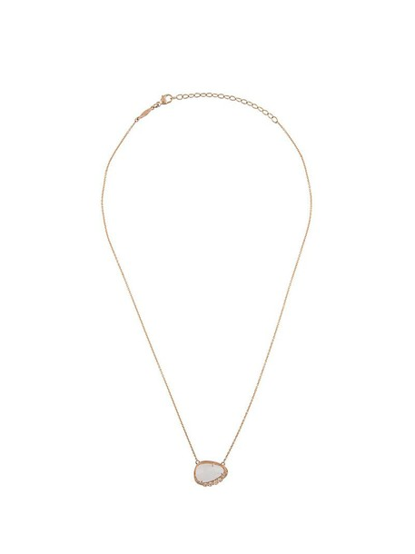 Jacquie Aiche rose gold rose women moon necklace gold grey metallic jewels