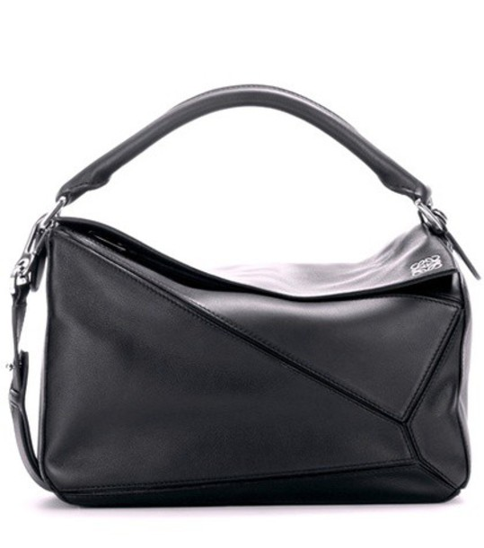 Loewe Puzzle leather bag in black