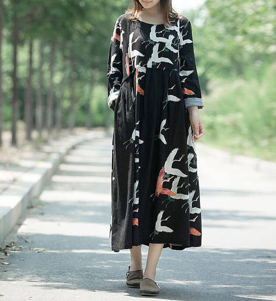 dress long sleeve dress black dress