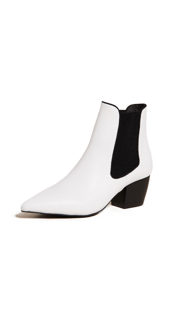 Sol Sana Ella Point Toe Booties in white
