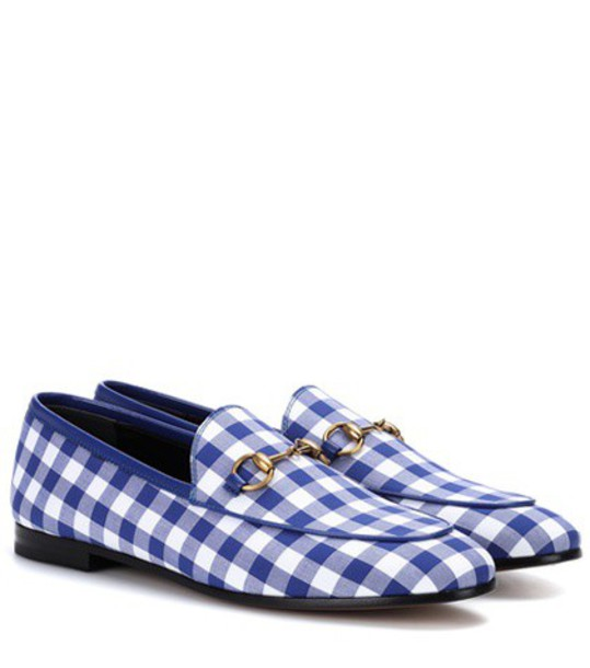 loafers gingham blue shoes
