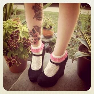 wedges black straps beautiful shoes black wedges underwear shoes