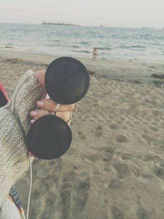 sunglasses sea girly nail polish