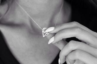 jewels necklace silver diamond necklace