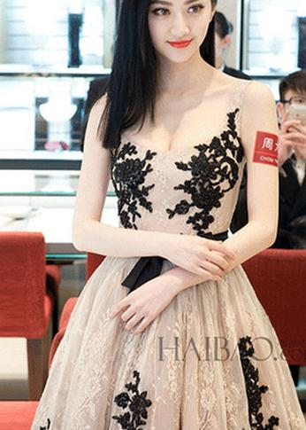 Fashion cute organza lace dress