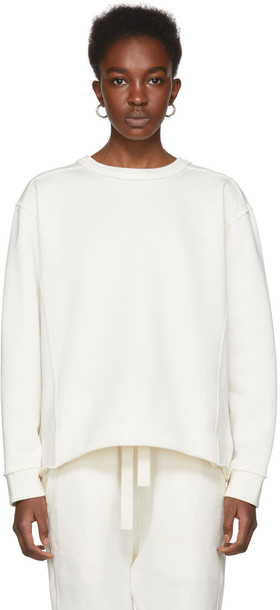 Jil Sander sweatshirt white off-white sweater