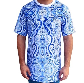 shirt paisley men's tall tee clothingline blue swag urban streetwear fashion igers apparel fall outfits