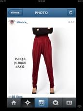pants,burgundy
