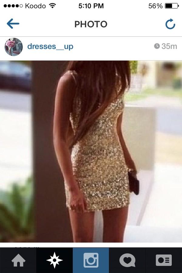 dress short dress sparkly dress gold