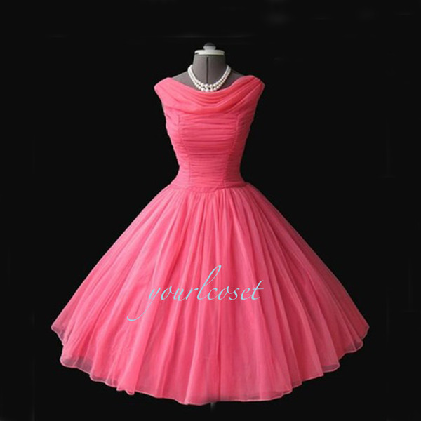 dress party dress vintage handmade women's dress prom dress short prom dress bridesmaid carrie bradshaw pink vintage dress 60s style pink dress midi dress vintage dress flare flare dress pink