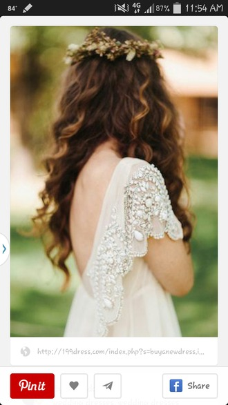 dress bohemian dress vintage wedding dress