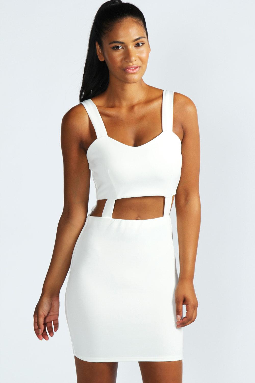 Boohoo Fern Cut Out Strappy Short Bodycon Dress