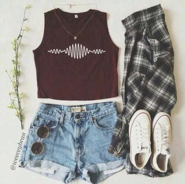 Hipster Bands: Top: Hunter Shirt, Band, Shorts, Hipster, Arctic Monkeys