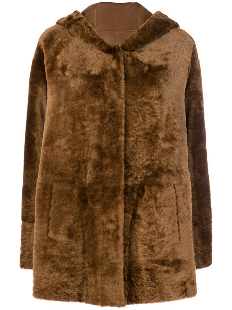 DROME coat fur women brown