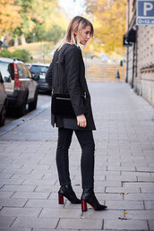 chaloth,blogger,jacket,sweater,jewels,shoes,jeans