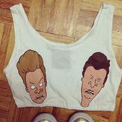 t-shirt,Beavis and Butt-Head,beavis and butthead tee,cartoon,bra