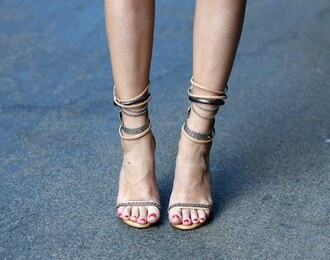 grey shoes isabel marant sandals nude chain