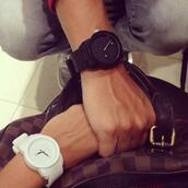 jewels,watch,withe,black,white watch,white,black watch,matte,designer,warm,digital watch,classy,belt