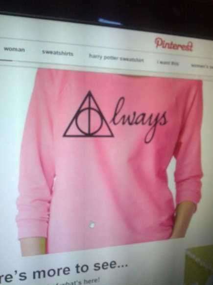 harry potter deathly hallows always 3/4 sleeve