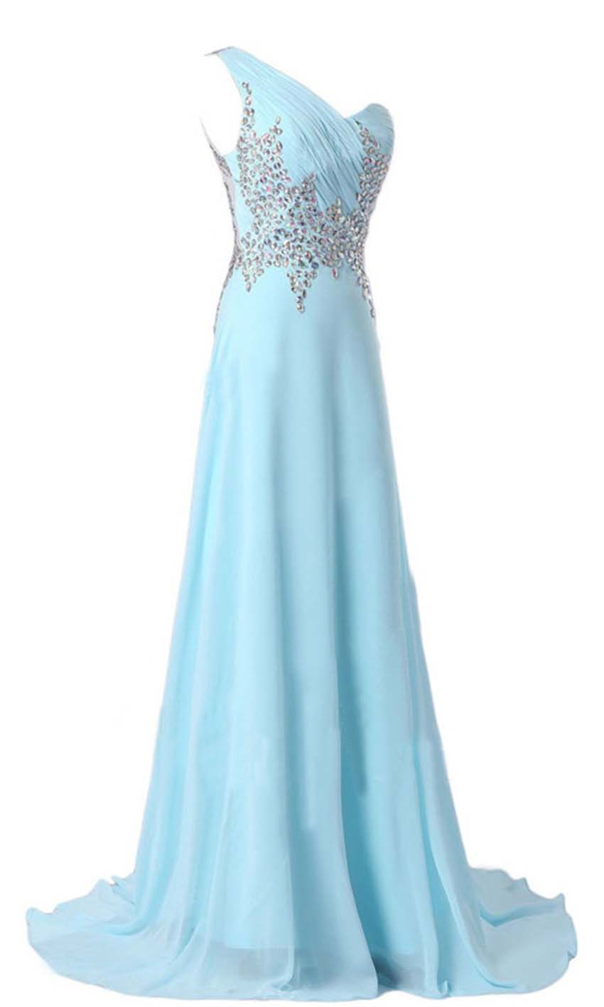 Light Blue One Should Zigzag Sequin Long Formal Dresses KSP369 ...