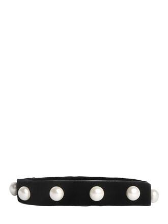 belt velvet black