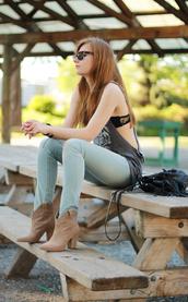 velvet venue,jeans,t-shirt,shoes,bag,sunglasses