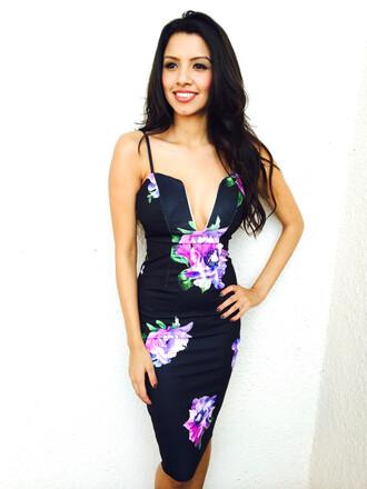 dress floral floral dress bodycon dress bodycon navy navy dress midi dress midi