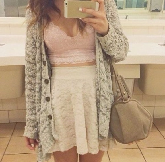 sweater skirt crop tops tank top