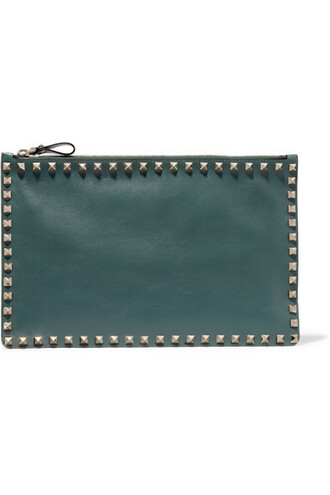 forest pouch leather green forest green bag