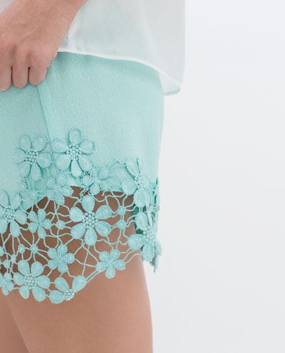 Crochet Hem Shorts Shorts With Crochet Hem