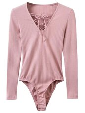 top,pink,fashion,style,trendy,lace up,light pink,long sleeves,zaful
